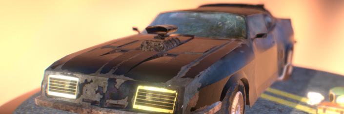 3D Mad Max Ford Falcon