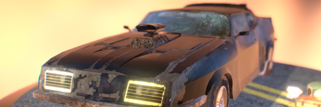 Mad Max Ford Falcon 3D Model | Martin Hatala