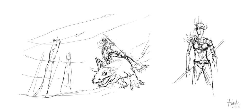 Feral Future Sketches
