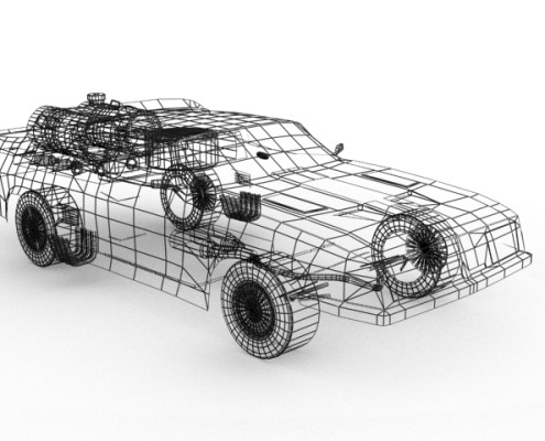Ford Falcon model wireframe