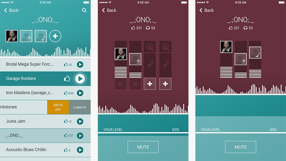 Jam App - Enter and listen