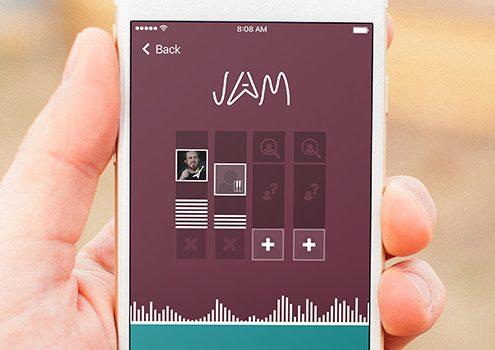Jam App design (UI+UX)