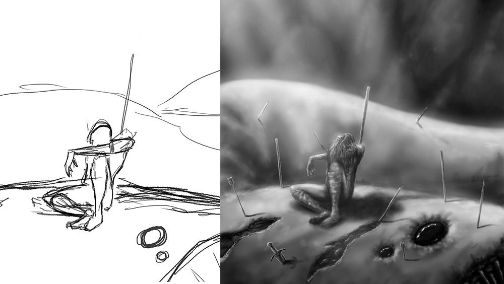 Digital Painting  Victory sketch